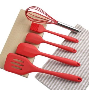 Wholesale eco friendly cookware resale online - Cookware Sets Silicone Kitchenware Non stick Cookware Silicone Cooking Tool Sets Egg Beater Spatula Oil Brush Kitchen Tools Utensils DHE3861