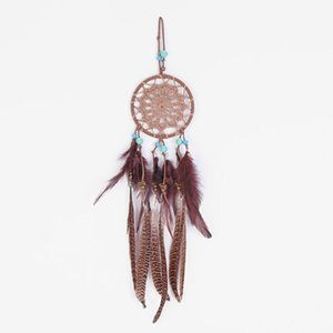 ingrosso tessuto da sogno-Dreamcatcher Tessitura pizzo Dream Catcher Girlish Heart Retro Dream Feather Door Ornaments Pendente Parete Appeso Decorazione YYS3704