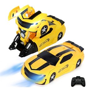 Wholesale transform toy for sale - Group buy Electric Anti Gravity Wall Floor Wall Climbing Rc Car Model Rotating Stunt Rechargeable Remote Control Car Toy Transform Robot