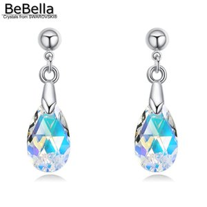 Wholesale dangler earrings resale online - BeBella pear drop pendant earrings dangler with Crystals from fashion jewelry birthday Christams gift for women girl