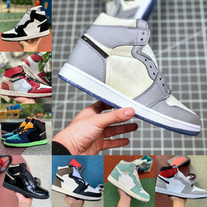 ingrosso colorante di cravatta di progettazione-Air Jordan High s Scarpe da basket Uomo Donna New Love Tie Dye OG Bio Hack Blu UNC Patent Rosso Bianco Chicago BLACK ROYAL TWIST Green Toe Designers