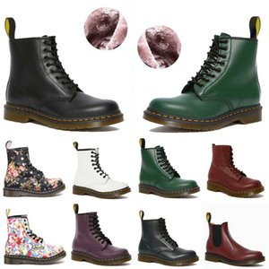 Wholesale snow boots men for sale - Group buy 20 colors designer ankle dr platform martin men mens women womens fur snow martins boot desert doc boots c0