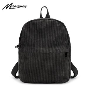 Wholesale schoolbags for teenagers resale online - Women Backpack Velour Solid Schoolbags for Teenager Girls Small Suede Vintage Casual Daypacks Rucksack Female Bags Black Mochila