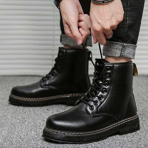 Wholesale tooling leather for sale - Group buy Martin Boots Men Leather High top British All match Classic Knight Boot Trend Autumn Men s Knight Boots Outdoor Casual Tooling Boots