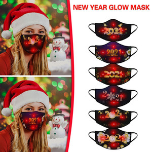 Wholesale new black face mask resale online - Luminous Mask Colors Changing Glowing LED Face Mask for New Year Masquerade Adult Masks