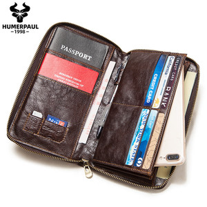 Wholesale leather document passport holder resale online - New Passport Travel Men Wallet Leather Multi Function Credit Card Holder Clutch ID Document Multi Card Storage Quality Phone Bag