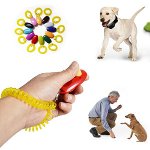 Wholesale sound buttons resale online - Universal Remote Portable Animal Dog Button Clicker Sound Trainer Pet Training whistle Tool Control Wrist Band Accessory New Arrival DHF3305