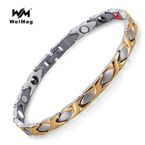 Wholesale energy magnetic titanium germanium bracelet for sale - Group buy WelMag Fashion Health Healing FIR Magnetic Bracelet Energy Bio Magnetic Titanium Bangles Negative Ion Germanium Bracelet Jewelry