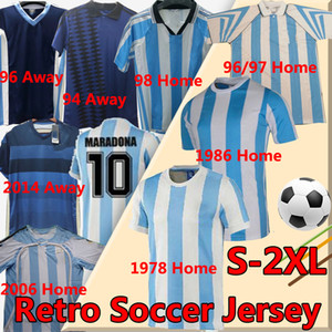 Retro Argentina Soccer Jerseys Messi Batistuta Crespo Simeone Ortega Riquelme Veron Zanetti Tevez 1978 86 94 96 98 2006 14 Shirt uniform