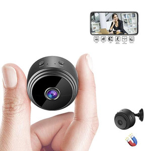 nacht spion kameras großhandel-A9 P Full HD Mini Spion Video Cam WiFi IP drahtlose Sicherheit versteckte Kameras Indoor Home Überwachung Nachtsicht Kleine Camcorder