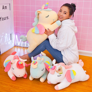 Wholesale giant plush pillows resale online - 30cm Kawaii Giant Unicorn Plush Toy Soft Stuffed Unicorn Soft Dolls Animal Horse Toys For Children Girl Pillow Birthday Gifts