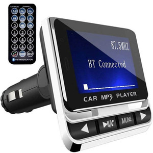 ingrosso trasmettitore fm bluetooth-Bluetooth Car MP3 FM Trasmettitore MUISC Player con vivavoce wireless Bluetooth Kit Kit Supporto TF Card Line in AUX FM12B