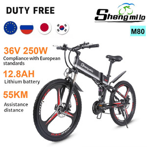 Wholesale mopeds electric resale online - EU Standards Shengmilo News M80 W Electric Mountain Bike AH Inch V Folding Electric Off road Bicycle City Moped E Bike Unisex