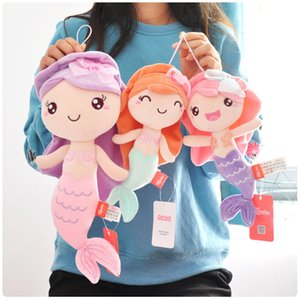 pelo largo princesa al por mayor-Mermaid Princess Long Hair Toy Aquarium Peluche Muñeca Niña Almohada PA2