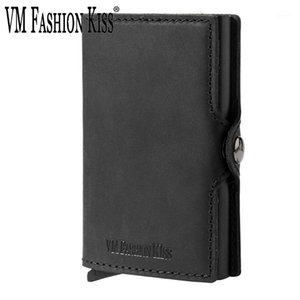 Wholesale custom gift card holders for sale - Group buy Custom Father s Day Gifts Genuine Leather Minimalism Wallets Automatic Nederlands Card Wallet Cardholde Luxury1