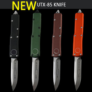 Wholesale micro blades for sale - Group buy NEW micro UT85 UTX CNC precision casting aviation aluminum handle D2 blade autom knife pocket EDC knife