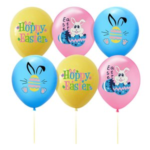 Wholesale decorative rabbits for sale - Group buy Easter Letters Rabbit Print Balloons Latex Air Balloon Easter Party Decor Eggs Cartoon Bunny Balloons Decorative Festival Supplies E122304