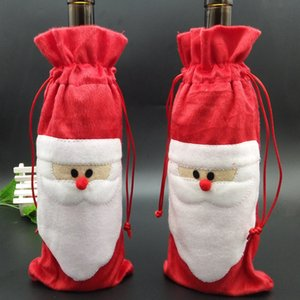 Wholesale blending bottle for sale - Group buy Santa Claus Gift Bags Christmas Decorations Red Wine Bottle Cover Bags Christams Santa Champagne wine Bag Xmas Gift LLS333