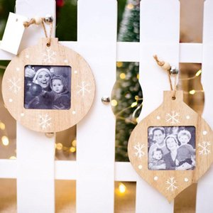 Wholesale wooden photo frames home for sale - Group buy Sublimation Blanks Christmas DIY Ornaments DIY Wooden Photo Frame Pendant Christmas Decorations Ornaments For Home Photo Pendant XD24246