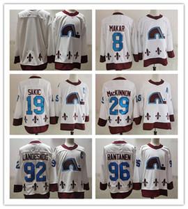 29 Nathan MacKinnon Avalanche 2021 Reverse Retro Jersey Cale Makar Mikko Rantanen Gabriel Landeskog Joe Sakic Blank Hockey Jersey
