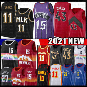 Wholesale basketball youth resale online - Vince Carter Pascal Trae Siakam Young Basketball Jersey Jamal Nikola Murray Jokic Men s Youth Kid s Jerseys New red Black