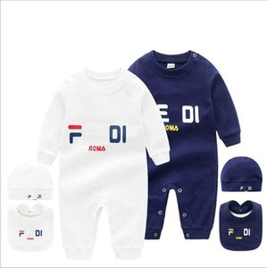 Wholesale pure baby clothing for sale - Group buy Fashion brand Toddler Baby Clothes Stripe Romper hat set Bodysuit Cartoon bee pure Cotton Newborn Summer short sleeve Romper Infant Jumpsuit