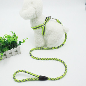 Wholesale harnesses for dogs for sale - Group buy Pet Dog Leash Night Safety Reflective Traction Rope Dog Chest Strap Leash Set for Pet Dog m S HHE3306