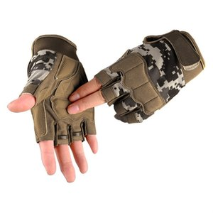 Wholesale motorcyle gloves for sale - Group buy Hiking Outdoor Men Sports Military Tactical Hunting Glove Half Finger Paintball Camping Motorcyle Racing Cycling Gloves