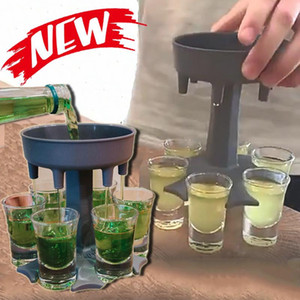 Wholesale game glasses for sale - Group buy 6 Shot Glass Dispenser Holder Wine Whisky Beer Dispenser Rack Bar Accessories Caddy Liquor Dispenser Party Games Drinking Tools