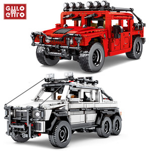 Wholesale toy bricks car for sale - Group buy 953Pcs Technic Off Road Vehicle G500 SUV Building Blocks City Pull Back Car Creator Ideas Bricks Children Toys Birthday Gifts Q1126