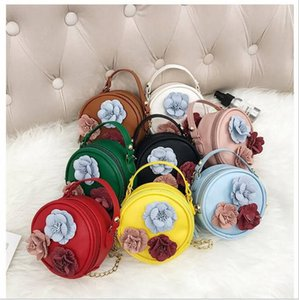 Wholesale small kids handbag resale online - Kids Designer Handbags Mini Bag Flowers Round Girl Shoulder Bags Women Coin Purses Brand Crossbody Bag Small Wallets Messenger Bags GWE3665