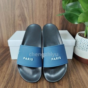 Wholesale mens shoes wide resale online - Top Quality Mens Womens Sandals Three dimensional Font Shoes Slide Summer Fashion Wide Flat Slipper Sandals Slipper Flip Flop With Box