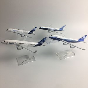 Wholesale metal airplanes toys resale online - JASON TUTU Original model a380 airbus Boeing airplane model aircraft Diecast Model Metal airplane toy Gift collection Q1217
