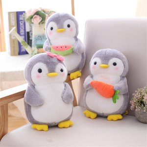 Wholesale vegetable pillows for sale - Group buy Cute Penguin Holding Fruit and Vegetable Plush Toy Simulation Pillow Small Doll U5B