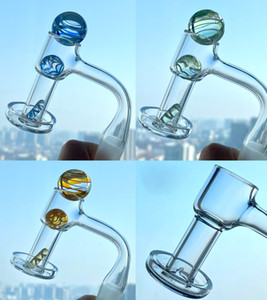Wholesale vacuum oil resale online - Fully Weld Terp Slurper Set Quartz Banger Nail smoke with marble carb cap ball Vacuum pearls pill domeless oil glass bong rigs