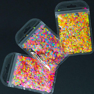 Wholesale neon nail for sale - Group buy 4 Shape Chunky Confetti Glitter Glitter Tumblers Nail Art Chunky Heat Resistant Neon