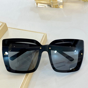 Wholesale square purple plates resale online - 0125 New Popular sunglasses women charming square fashionable glasses high quality diamond plate Invisible frame anti UV sunglasses in box