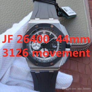 Wholesale timer pin resale online - JF montre DE luxe mm timer function automatic mechanical movement watches silicon band designer watches