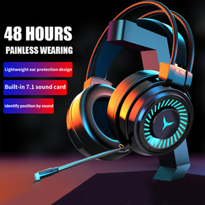Wholesale game headsets for sale - Group buy Game Headphones with Mic PC Professional Gaming Headset USB Wired Headphones Surround Sound Stereo for PUBG XBOX PS4 Game