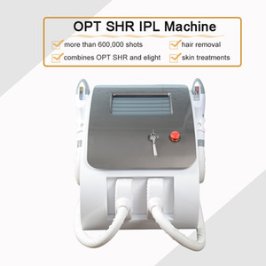 Free shipping OPT SHR IPL permanent hair removal elight Skin Rejuvenation two handles More than 600,000 shots OPT SHR Beauty Machine