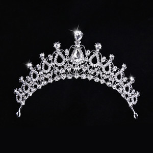 2021 Gold Princess Headwear Chic Bridal Tiaras Accessories Stunning Crystals Pearls Wedding Tiaras And Crowns 121710