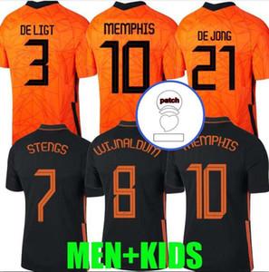 Netherlands 2020 Mens Jersey Kids Kit DE LIGT Cruyff Soccer Jersey MEMPHIS Soccer Jersey Holland SNEIJDE Gullit 2021 WIJNALDUM