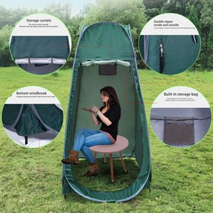 Wholesale outdoor changing tents resale online - Outdoor Camping Bathing And Changing Tent Tent Free To Build X95X95CM Season With Snow Skirt Hiking Trekking