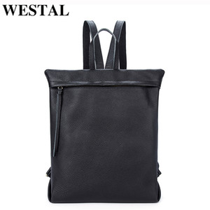 Wholesale schoolbags for teenagers for sale - Group buy WESTAL Women Backpacks for girls teenagers SchoolBags Genuine Leather Backpack Female bagpack Laptop Backpack female leather