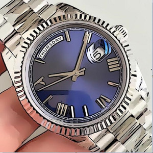 Wholesale black faced mens watch for sale - Group buy U1 Factory Mens Watch DAY DATE Gray Rome Number Face Big Date Automatic Mechanics Watch Men Sapphire Glass Stainless Steel mens watch