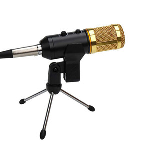 Wholesale stand for microphone for sale - Group buy MK F200FL Professional Wire Microphone Handheld Condenser With Tripod Stand Mic for Computer USB Karaoke Video Studio Recording