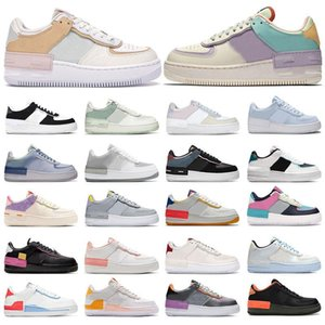 Wholesale mens air spring shoes for sale - Group buy air Mens blue red black Pale Shoes Women Force AF1 AF Shoes Fashion Dunk One Shadow Phantom Ivory Spruce Aura Glacier