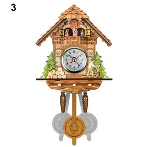 reloj despertador mejor al por mayor-El mejor Antiguo Antiguo Cuckoo Wall Clock Clock Time Bell Swing Alarm Watch Home Art Decor