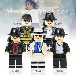 2020 New Arrival Original anime minifigure assemble building block Singer Michael Jackson action figure toy for kid