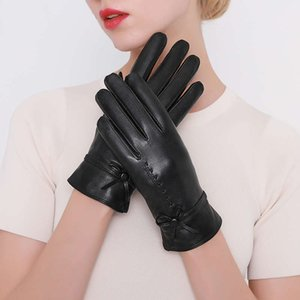 Wholesale repairing leather for sale - Group buy New style touch screen leather gloves for women s hand repair